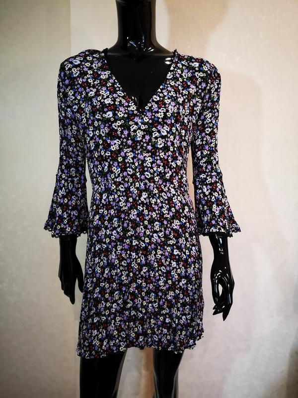 Нежное платье цветочный принт вискоза h&m