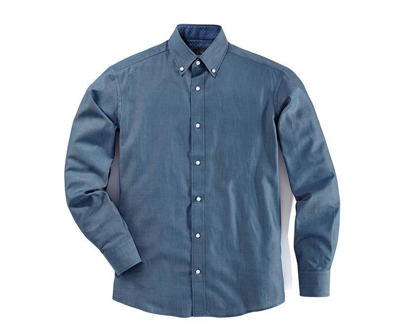 Рубашка премиум качество из ткани шамбре tcm tchibo германия в... - Фото 2
