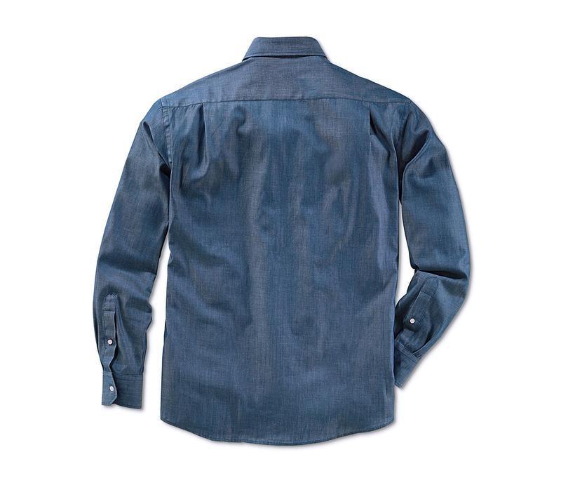 Рубашка премиум качество из ткани шамбре tcm tchibo германия в... - Фото 3