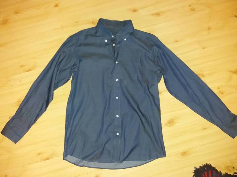 Рубашка премиум качество из ткани шамбре tcm tchibo германия в... - Фото 4