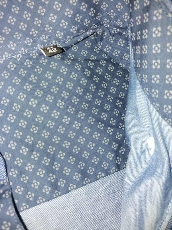 Рубашка премиум качество из ткани шамбре tcm tchibo германия в... - Фото 5