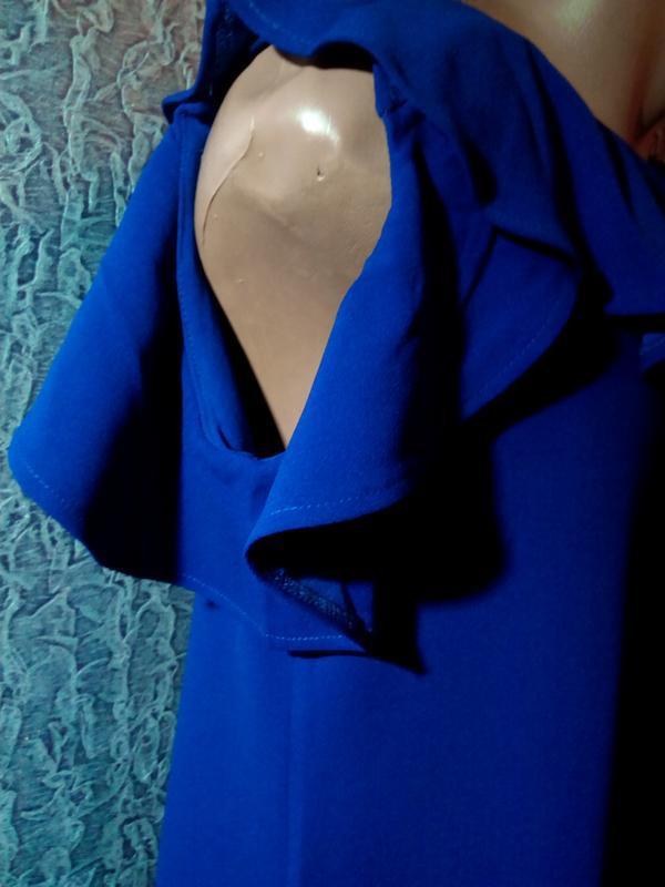 Стильное,синее платье, футляр. - Фото 4