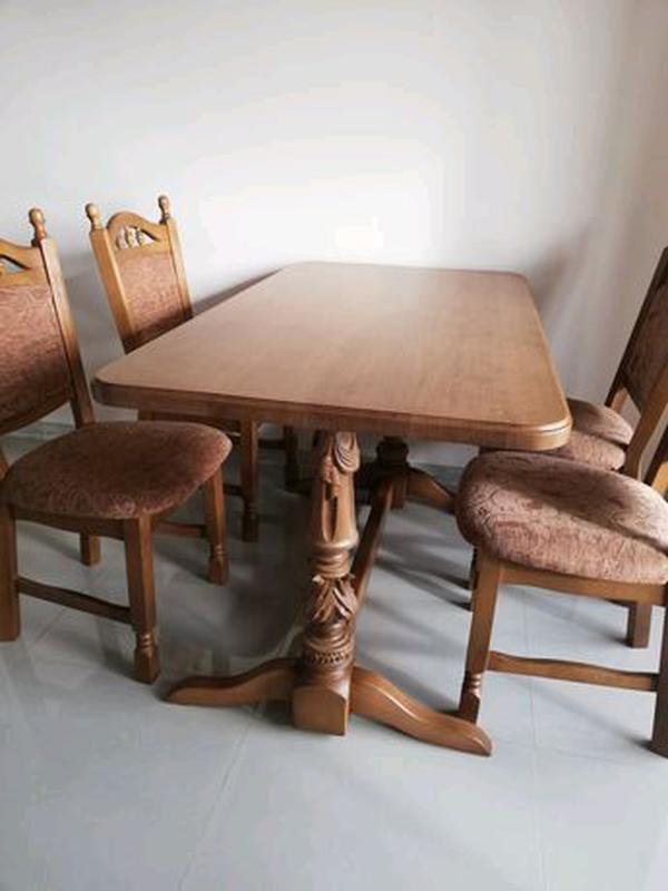 Продам стіл дуб масив та 6 стільців бук масив - Фото 2