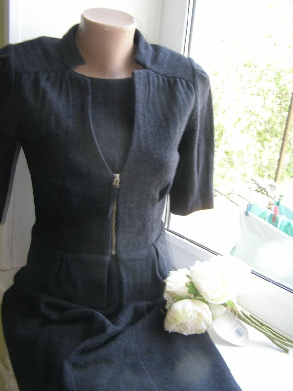Banana republic костюм в деловом стиле (платье+пиджак) 100% ше...