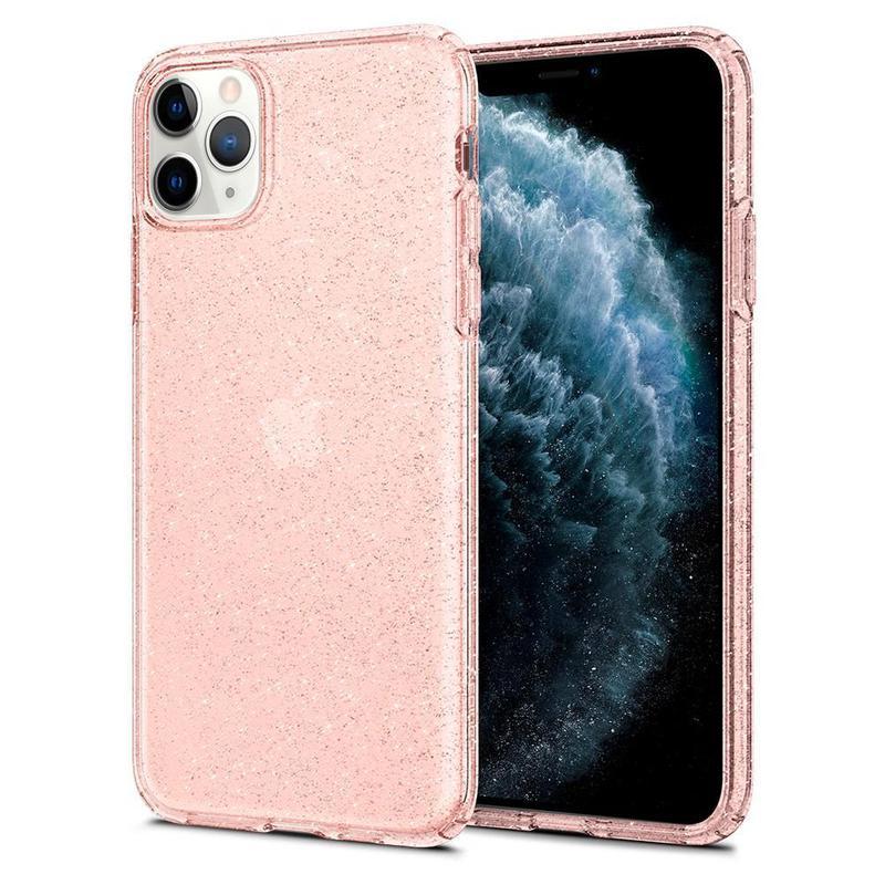 Чехол Spigen Liquid Crystal Glitter iPhone 11 Pro Max Rose Quartz - Фото 2