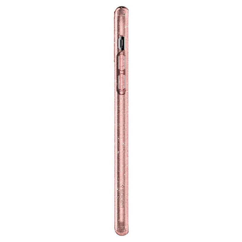 Чехол Spigen Liquid Crystal Glitter iPhone 11 Pro Max Rose Quartz - Фото 9