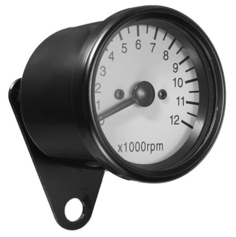 Тахометр выносной универсальный (аналоговый, хром, 12000об/мин)