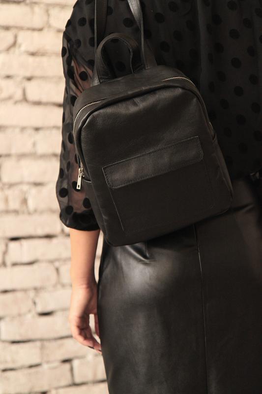 Рюкзак из натуральной кожи (чёрный)