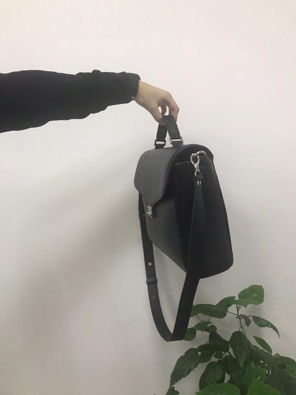 Стильный кожаный портфель-сумка (унисекс) - Фото 3