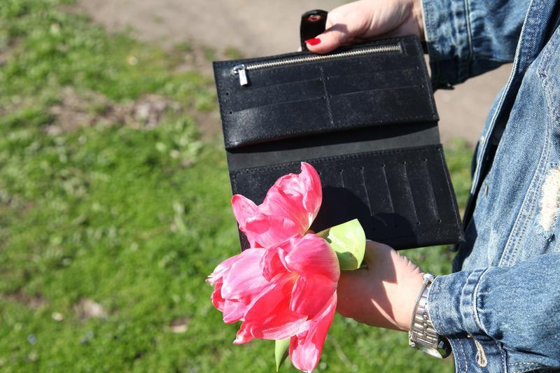 Стильный кожаный кошелек - Фото 3