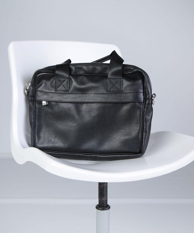 Мужская сумка для ноутбука, мессенджер из кожи, на каждый день - Фото 3