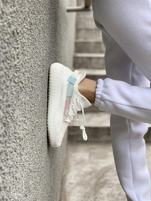 Стильные женские кроссовки adidas yeezy белый цвет /весна/лето... - Фото 2