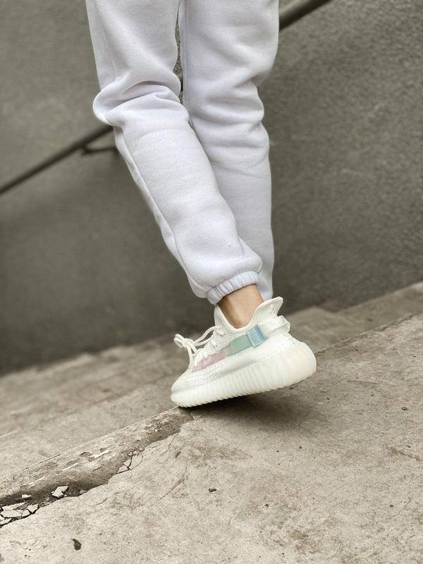 Стильные женские кроссовки adidas yeezy белый цвет /весна/лето... - Фото 4