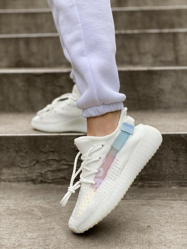 Стильные женские кроссовки adidas yeezy белый цвет /весна/лето... - Фото 7