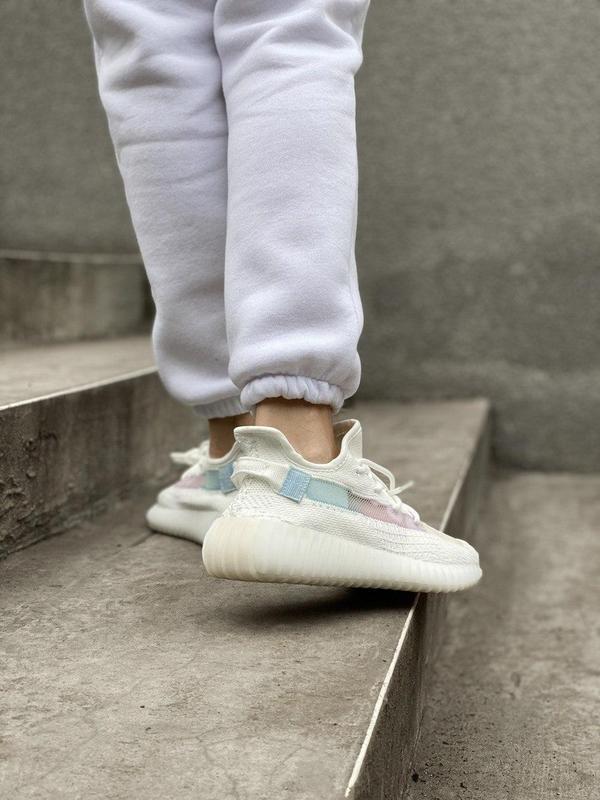 Стильные женские кроссовки adidas yeezy белый цвет /весна/лето... - Фото 8