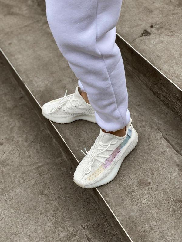 Стильные женские кроссовки adidas yeezy белый цвет /весна/лето... - Фото 9