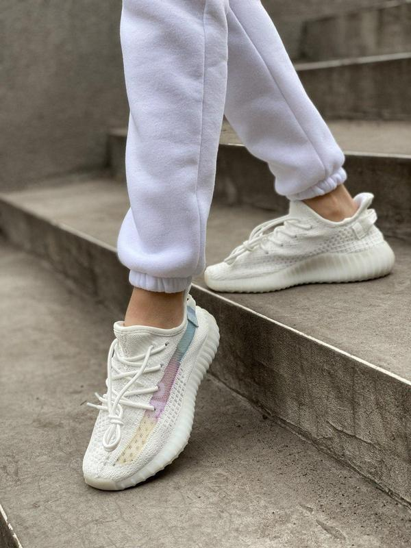 Стильные женские кроссовки adidas yeezy белый цвет /весна/лето... - Фото 10