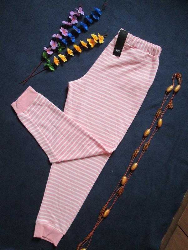 Суперовые трикотажные стрейчевые спортивные штаны в полоску вы... - Фото 4