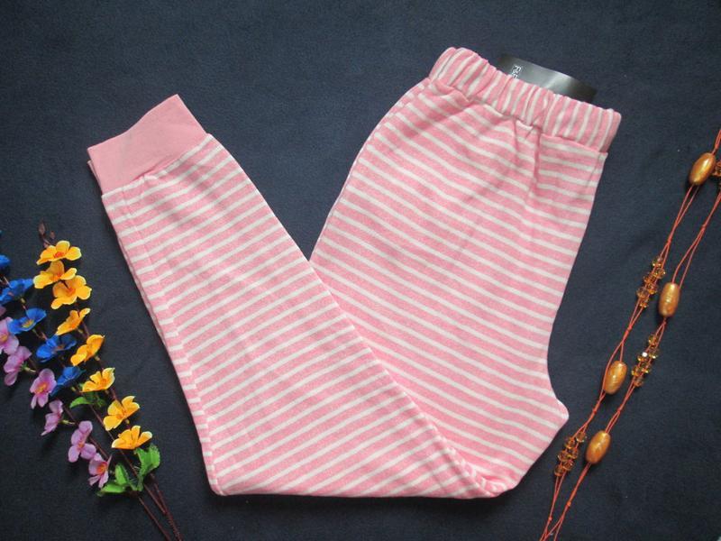Суперовые трикотажные стрейчевые спортивные штаны в полоску вы... - Фото 5