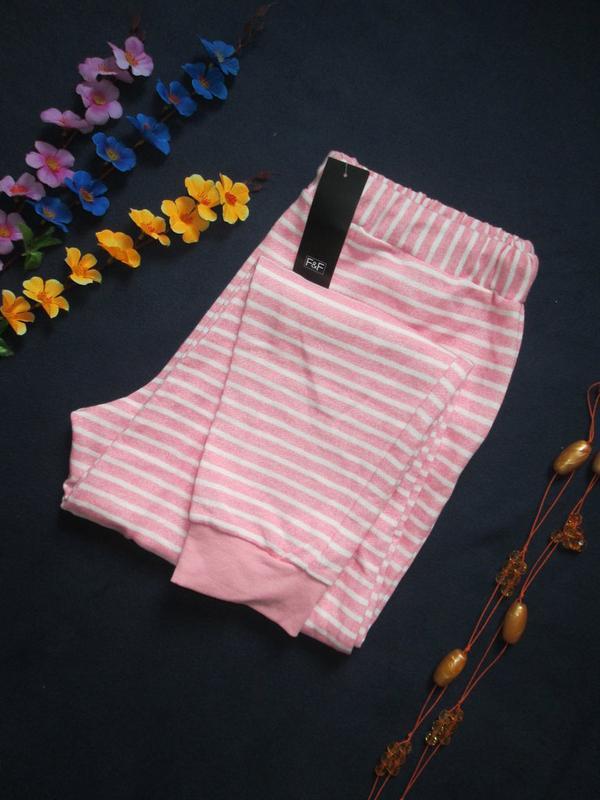 Суперовые трикотажные стрейчевые спортивные штаны в полоску вы... - Фото 6