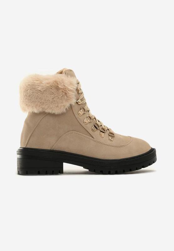 Новые шикарные женские зимние бежевые ботинки - Фото 5