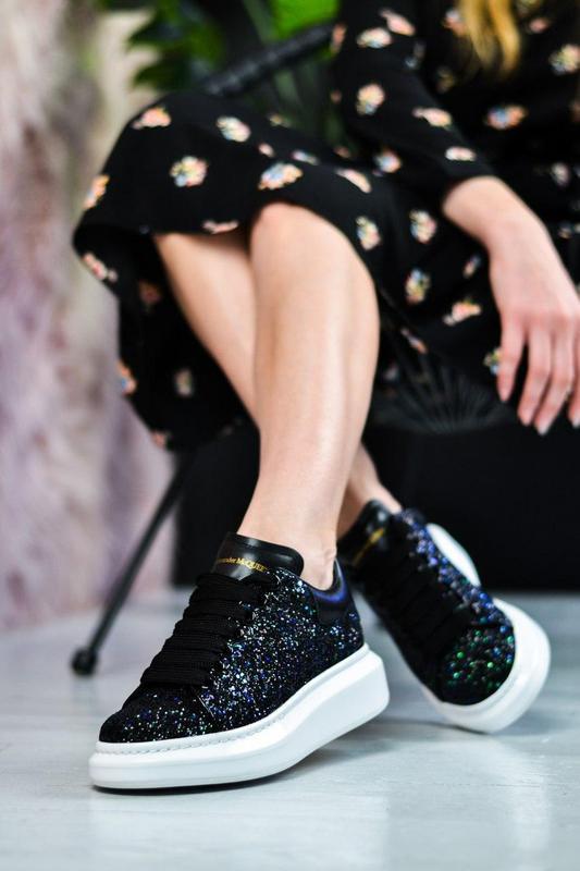 Alexander mcqueen потрясающие женские кроссовки кожа /весна/ле... - Фото 4