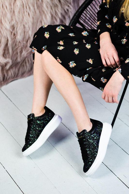 Alexander mcqueen потрясающие женские кроссовки кожа /весна/ле... - Фото 5