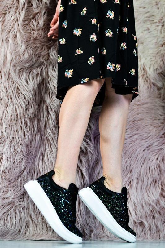 Alexander mcqueen потрясающие женские кроссовки кожа /весна/ле... - Фото 6