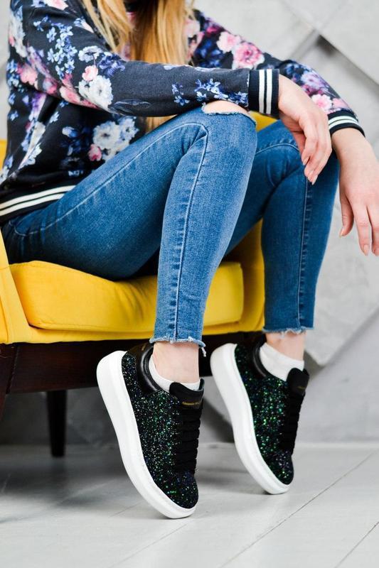Alexander mcqueen потрясающие женские кроссовки кожа /весна/ле... - Фото 8