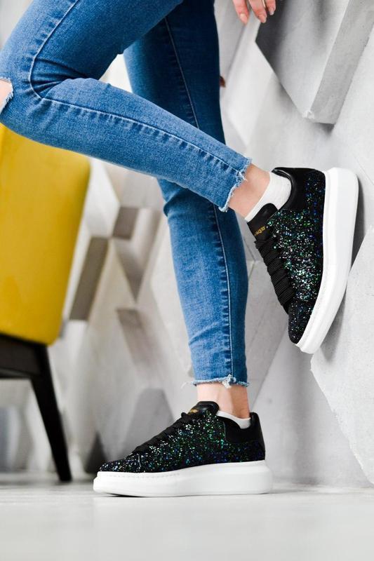 Alexander mcqueen потрясающие женские кроссовки кожа /весна/ле... - Фото 10