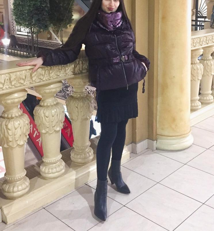 Актуальная стильная куртка- пуховик италия фиолет сиреневый на...