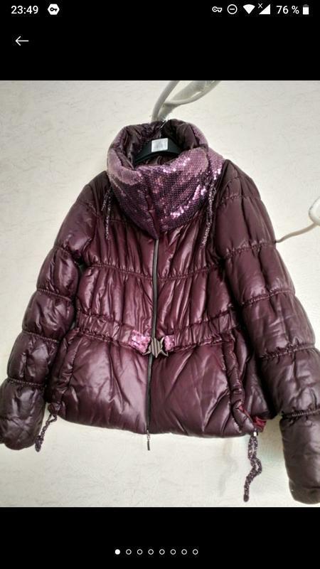 Актуальная стильная куртка- пуховик италия фиолет сиреневый на... - Фото 2