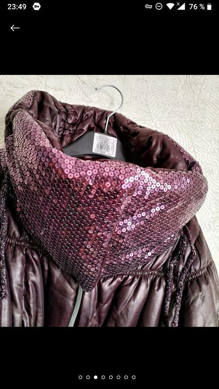 Актуальная стильная куртка- пуховик италия фиолет сиреневый на... - Фото 3