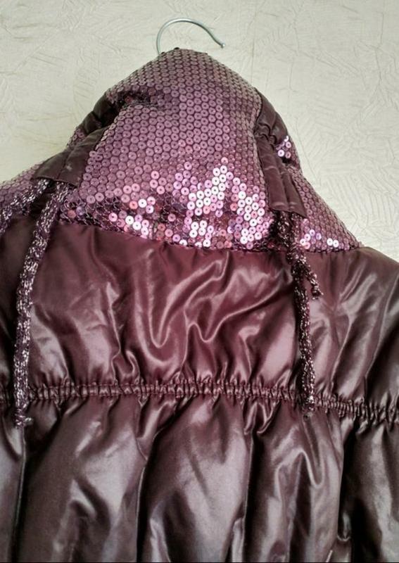 Актуальная стильная куртка- пуховик италия фиолет сиреневый на... - Фото 6
