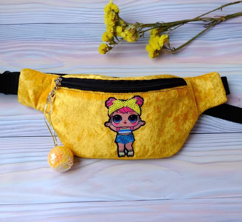 Брелок-подвеска, шарик из пайеток, желтый - Фото 3