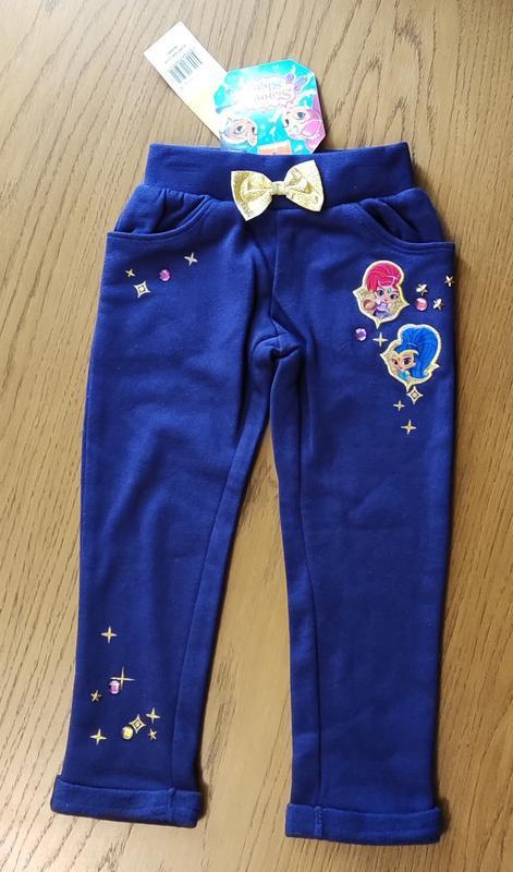 Брюки спортивные штаны утепленные для девочки disney