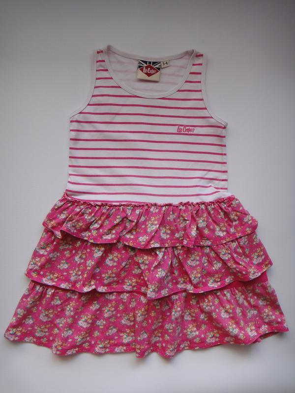 Летнее платье lee cooper  3-4 года