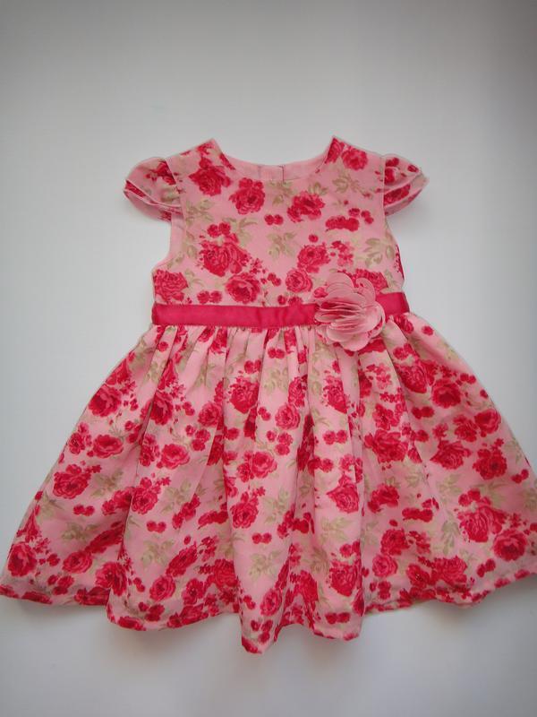 Нарядное шифоновое платье george 3-6 мес, 62-68 см