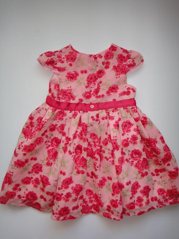 Нарядное шифоновое платье george 3-6 мес, 62-68 см - Фото 2
