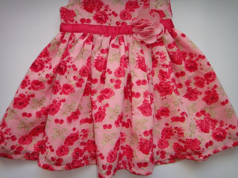 Нарядное шифоновое платье george 3-6 мес, 62-68 см - Фото 3