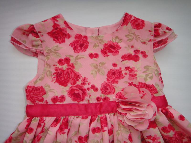 Нарядное шифоновое платье george 3-6 мес, 62-68 см - Фото 4