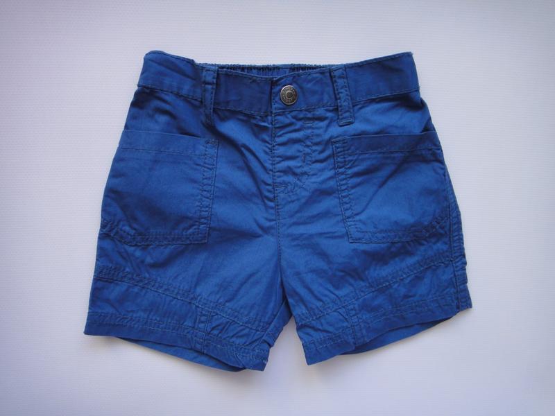 Синие шорты bluezoo 6-9 мес, 74 см