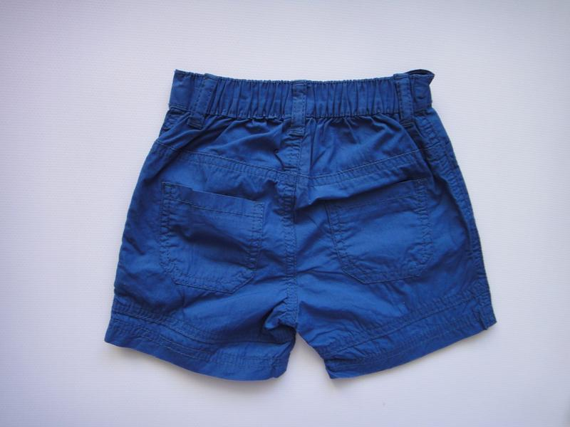 Синие шорты bluezoo 6-9 мес, 74 см - Фото 2