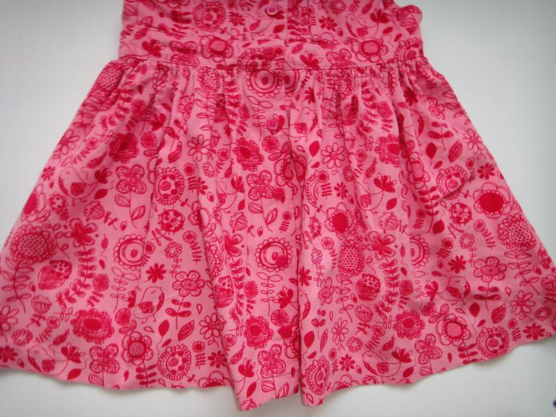 Вельветовое платье m&s в цветы 9-12 мес, 76 см - Фото 4