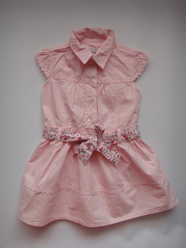 Розовое платье early days  9-12 мес, 74 см