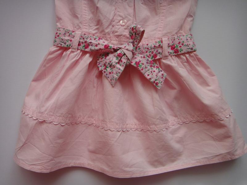 Розовое платье early days  9-12 мес, 74 см - Фото 3