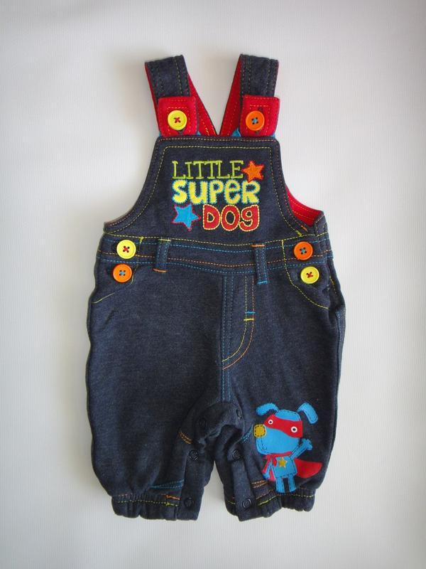 "Комбинезон george ""little super boy"" 0-3 мес, 56-62 см"