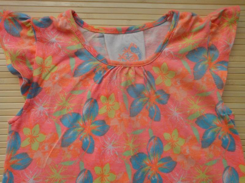 Яркая футболка young dimension в цветы 4-5 лет, 110 см - Фото 3