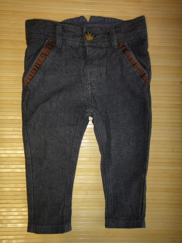 Серые брюки miniclub 9-12 мес, 74-80 см
