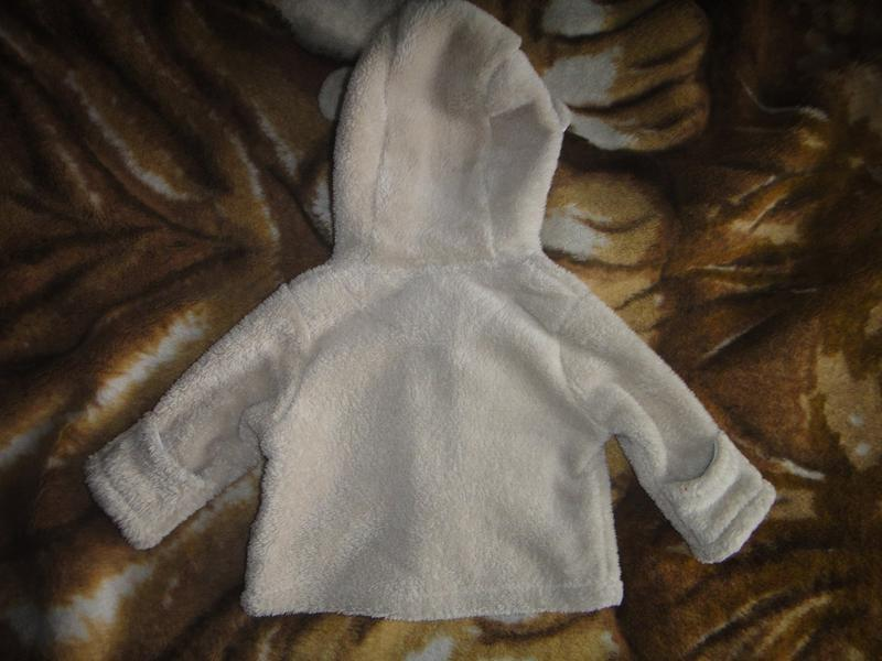Махровая кофта babies rus с капюшоном на новорожденного - Фото 3